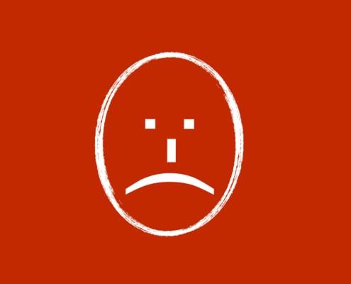 Negativer Mensch – mürrische Miene